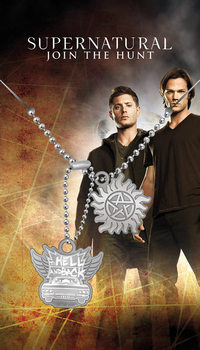 Placa identificadora Sobrenatural - Hell And Back Pendant