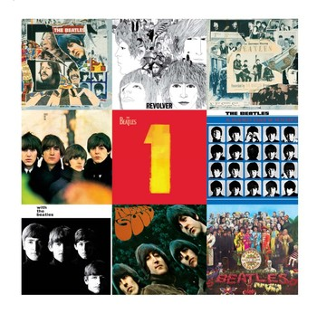 BEATLES COLLAGE 2 Placă metalică