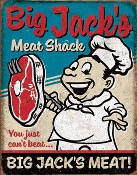 Big Jack's Meats Placă metalică