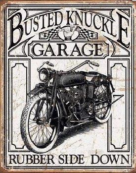 BUSTED KNACKLE - Vintage Placă metalică