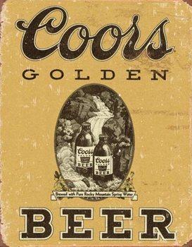 Placă metalică Coors - Golden Beer