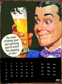 DRINKING BEER Placă metalică