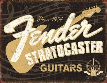 Placă metalică Fender - Stratocaster 60th