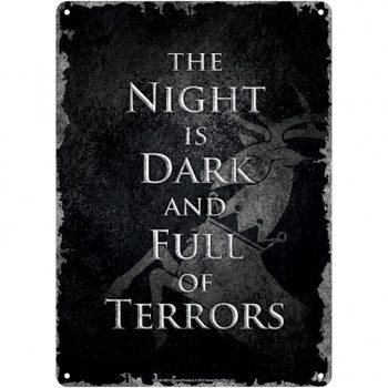 Game Of Thrones - Night Dark Placă metalică