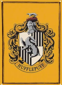 Placă metalică Harry Potter - Hufflepuff