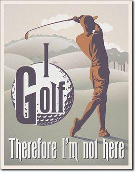 I Golf Placă metalică