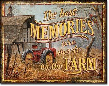 Plăcuță metalică JQ - Farm Memories