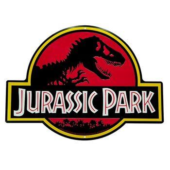 Placă metalică Jurrasic Park - Logo