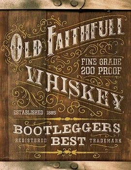 Old Faithful Whiskey Placă metalică