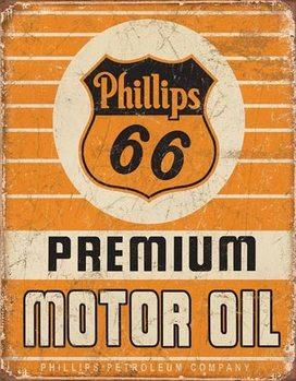 Placă metalică Phillips 66 - Premium Oil