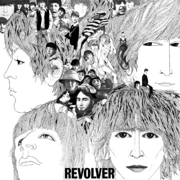 REVOLVER ALBUM COVER Placă metalică