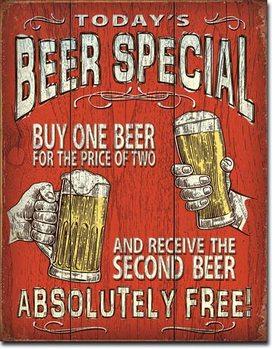 Placă metalică Todays Beer Special