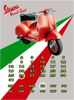 Vespa GS Calendar  Placă metalică
