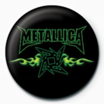 Odznak METALLICA - green flames GB