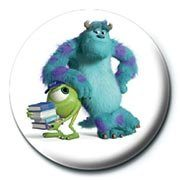 Odznak MONSTERS UNIVERSITY - mike & sulley