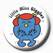 Odznak  MR MEN (Little Miss Giggle