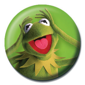 Odznak MUPPETS - Kermit