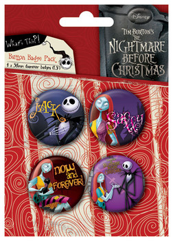 NIGHTMARE - Jack and Sally Placky | Odznaky