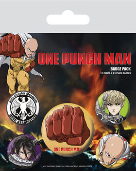 Odznaky set One Punch Man - Destructive