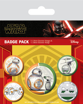 Odznaky set Star Wars: Vzostup Skywalkera - Droids