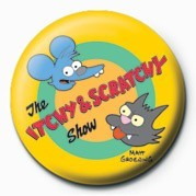 Odznak THE SIMPSONS - itchy & scratchy