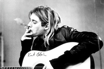 Plagát Kurt Cobain - smoking
