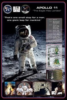 Plagát Apollo 11 - 1st man on The moon