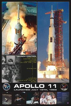 Plagát Apollo 11 - launch