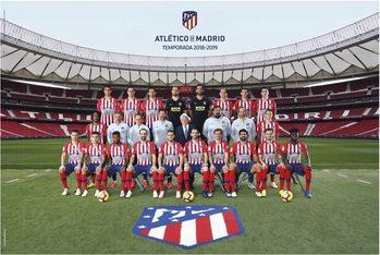 Plagát Atletico Madrid 2018/2019 - Plantilla