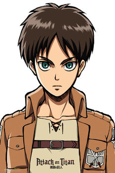 Plagát Attack on Titan (Shingeki no kyojin) - Eren