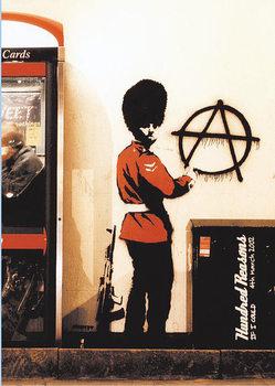 Plagát Banksy street art - Graffiti Gardist Anarchie