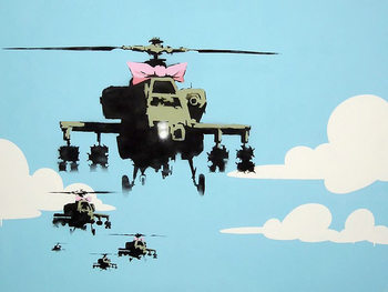 Plagát Banksy Street Art - Happy Choppers