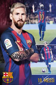 Plagát Barcelona - Messi collage 2017