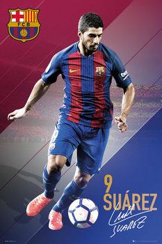 Plagát Barcelona - Suarez 16/17