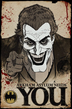 Plagát  Batman Comic - Joker Needs You
