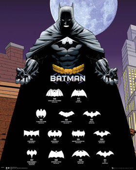 Plagát Batman - Logos