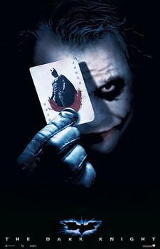 Plagát BATMAN THE DARK KNIGHT - joker card