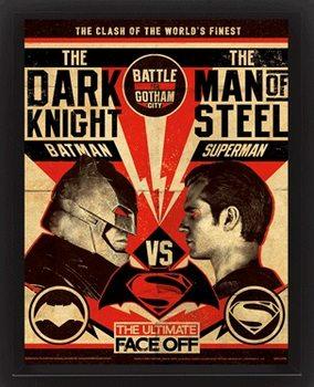Batman V Superman - Fight Poster - 3D plagát s rámom