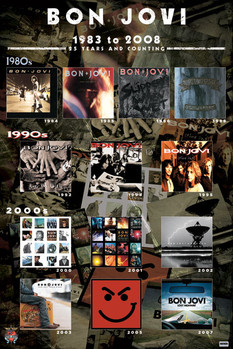 Plagát  Bon Jovi - album covers