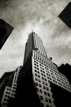 Plagát Chrysler building - perspective