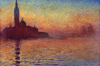 Plagát Claude Monet - San Giorgio Maggiore at Dusk