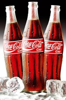 Plagát Coca Cola - 3 bottles of ice