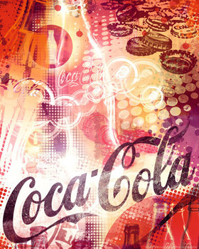Plagát COCA-COLA - graphic