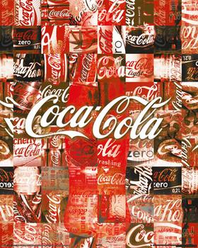 Plagát COCA-COLA - patchwork