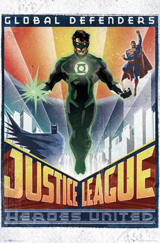 Plagát DC Comics - Green Lantern Art Deco
