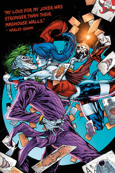 Plagát DC Comics - Harley Kiss