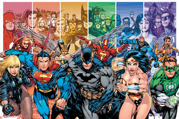 Plagát DC COMICS - justice league characters
