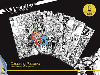 Plagát omaľovánka DC Comics - Justice League