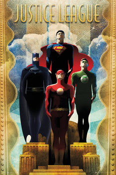 Plagát DC Comics - Team Art Deco