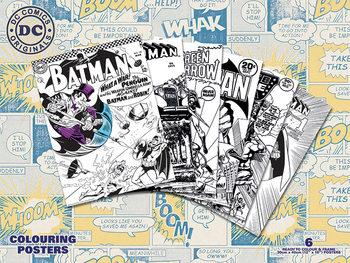 Plagát omaľovánka  DC Originals - Retro